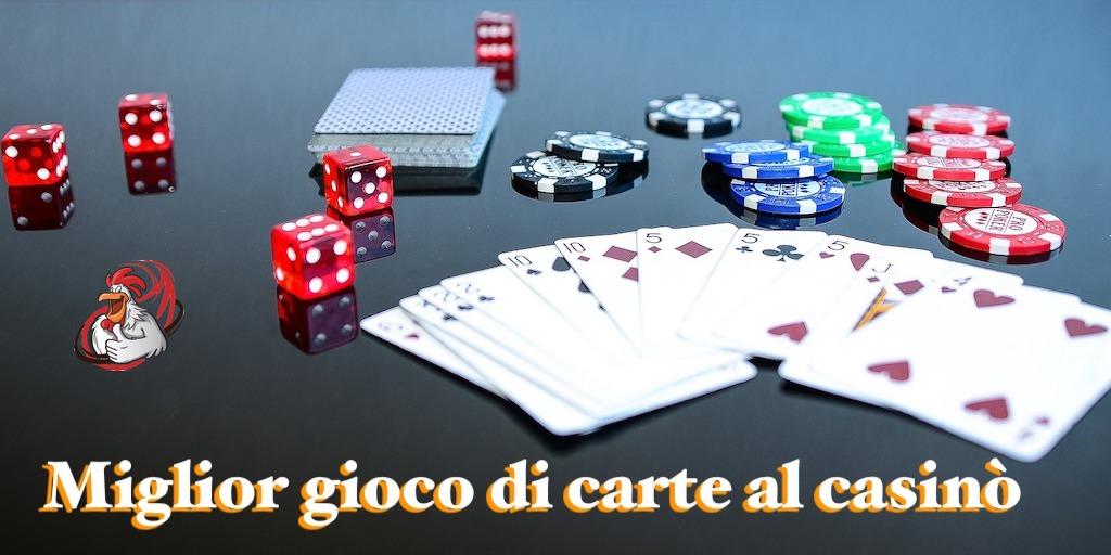 gioco di carte al casinò